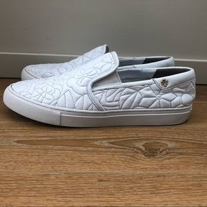 TORY BURCH 'Sela' Topstitched Slip-On Sneaker